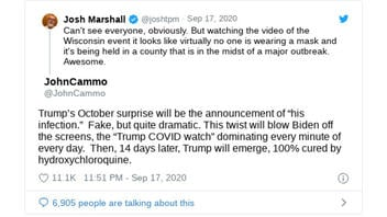 Fact Check: Viral Tweet By John Cammo Was NOT The Only One To Predict Trump Would Get Covid
