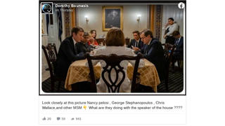 Fact Check: Photo Of Nancy Pelosi, George Stephanopoulos, And Chris Wallace Is From February 2019