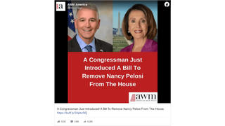 Fact Check: A Congressman Did NOT 'Just' Introduce A Bill To Remove Pelosi