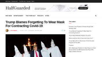 """Fact Check: Donald Trump Did NOT Blame """"Forgetting"""" To Wear A Mask (At A KKK Rally) For Contracting Covid-19"""