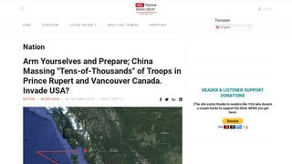Fact Check: Tens-Of-Thousands Of Chinese Soldiers Are NOT Quietly Massing On The Canadian Border Readying For Invasion Of The United States