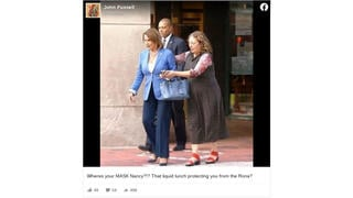 Fact Check: Nancy Pelosi Was NOT Escorted Drunk And Maskless From A Building