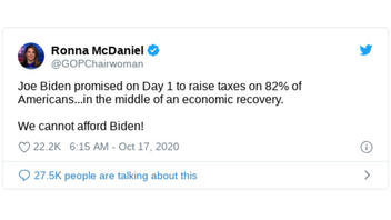 Fact Check: Biden Does NOT Plan To Raise Taxes On 82% Of Americans On Day 1