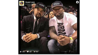 Fact Check: Ice Cube And 50 Cent Did NOT Wear Trump Hats In Photo