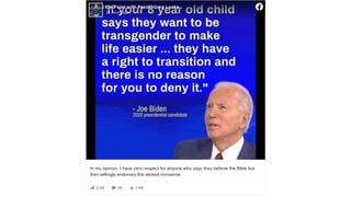 Fact Check: Joe Biden Did NOT Say 'If Your 8-Year-Old Child Says They Want To Be Transgender ... They Have A Right To Transition'