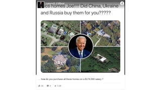 Fact Check: Biden Does NOT Own Four Homes Worth Millions And Funded By Foreign Entities