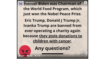Fact Check: Hunter Biden Was NOT Chairman Of The UN Program That Won The Nobel Peace Prize, And The Trump Kids Are NOT Banned From Operating A Charity
