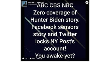 Fact Check: ABC, CBS, NBC Have NOT Given 'Zero Coverage' To Hunter Biden Story -- All Three Have Reported The Story