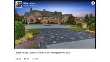 Fact Check: Joe Biden Does NOT Own One Of The Largest Mansions In Delaware