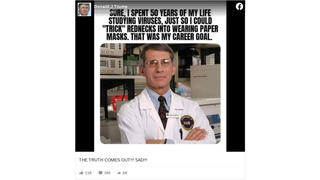 Fact Check: President Trump Did Not Post This Fauci Meme On Facebook
