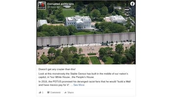 Fact Check: Photo Of Mammoth Wall In Front Of The White House Is NOT Real