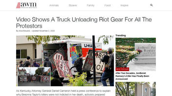 Fact Check: A Video Does NOT Show Riot Gear Being Unloaded From A Truck After The Election