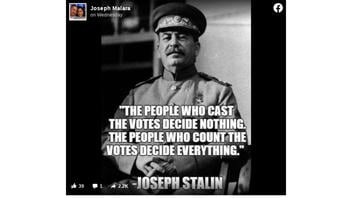 Fact Check: Purported Stalin Quote About Counting Votes Was NOT About General Elections