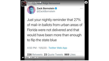 Fact Check: US Postal Service Did NOT Fail To Deliver 27 Percent Of Mail-In Ballots From Urban Florida Districts