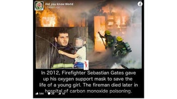 Fact Check: This Heroic Firefighter Is NOT 'Sebastian Gates' And He Did NOT Die After Saving This Child