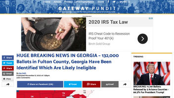 Fact Check: 132,000 'Likely Ineligible' Ballots Have NOT Been Identified in Fulton County, Georgia