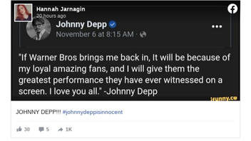 Fact Check: Johnny Depp Did NOT Say Warner Bros. Would Bring Him 'Back In' After Studio Forced Him Out Of 'Fantastic Beasts' Movie