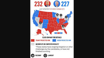 Fact Check: A Look Behind The Epoch Times' Map That Shows 232 Electoral Votes For Trump, 227 For Biden