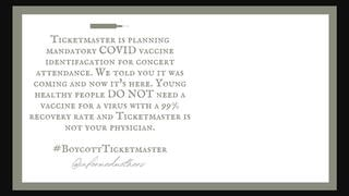 Fact Check: Ticketmaster Did NOT Announce A Plan For Mandatory COVID Vaccine ID To Attend Concerts