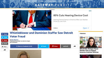 Fact Check: Whistleblower And Dominion 'Staffer' Did NOT See Detroit Voter Fraud, Judge Rules
