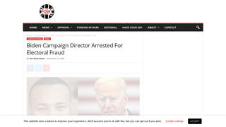Fact Check: A Biden Campaign Political Director Was NOT Arrested For Electoral Fraud