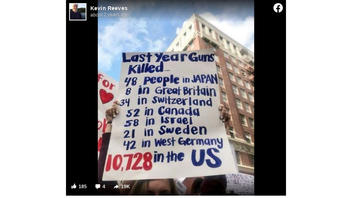 Fact Check: The Statistics On This Protest Sign Are NOT From 'Last Year' -- They're From Four Decades Ago