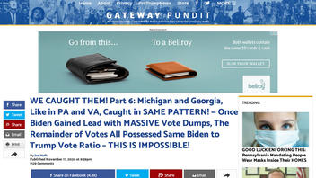Fact Check: Analysis Of Data Used By The Gateway Pundit Does NOT Reveal Massive Vote Theft From Trump to Biden