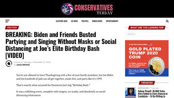 Fact Check: Biden and Friends Did NOT Party and Sing 'Happy Birthday' Without Social Distancing In 2020