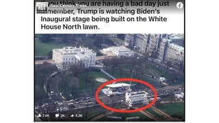 Fact Check: Stage For Joe Biden's Inauguration Was NOT Already Being Built In Front Of The White House In November
