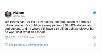 Fact Check: This Math Dividing Jeff Bezos' Net Worth Among The World Population Does NOT Compute