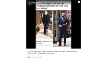 Fact Check: This Is NOT An Authentic Photo Of Joe Biden With A Walking Boot On His Left Foot