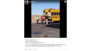 Fact Check: A School Bus Found In Buckeye, Arizona Was NOT Full Of Missing Voting Machines