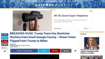 Fact Check: Trump Team Does NOT Have Dominion Machine From A Small Georgia County That Shows Votes Flipped from Trump to Biden