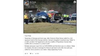 Fact Check: NO Evidence Fatal Car Crash Was A Message For Georgia Gov. Brian Kemp 'To Get Back In Line'
