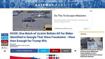Fact Check: NO Evidence Of 23,000 'Fraudulent' Ballots For Biden Identified In Georgia