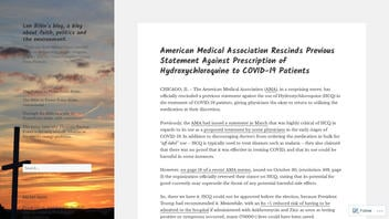 Fact Check: The American Medical Association Did NOT Rescind Its Original Guidance On Hydroxychloroquine