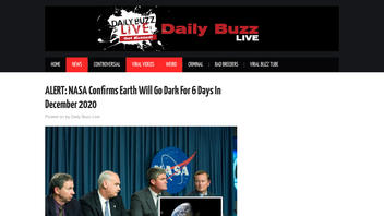 Fact Check: NASA Did NOT Confirm Earth 'Will Go Dark' For Six Days In December