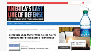Fact Check: Computer Shop Owner Involved In Hunter Biden Laptop Story Was NOT Found Dead