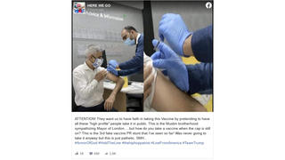 Fact Check: Needle Cap Was On For London Mayor's Flu Shot Publicity Photo In September, NOT For COVID-19 Vaccine Injection In December