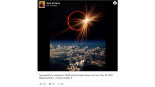 Fact Check: This Is NOT A NASA Photo Of A Solar Eclipse