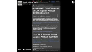 Fact Check: Website Screenshot and Tweets Are NOT Evidence FBI Arrested Adam Schiff at LAX Airport