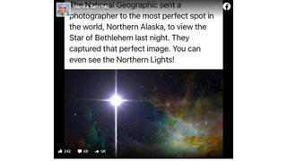 Fact Check: This Is NOT A 2020 National Geographic Photo Of The Star of Bethlehem