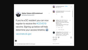 Fact Check: All Washington, D.C. Residents Can NOT Now Register to Receive The COVID-19 Vaccine