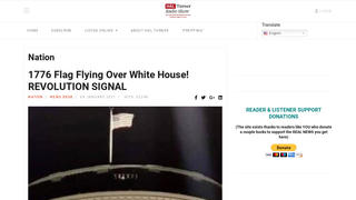 Fact Check: White House Is NOT Flying 1776 Flag, NOT Calling For Revolution