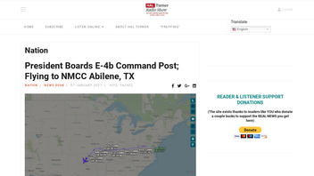 Fact Check: President Did NOT Board E-4b Command Post For A Flight To NMCC Abilene, Texas, On January 6, 2021