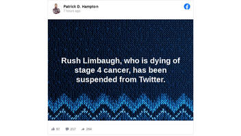 Fact Check: Rush Limbaugh Has NOT Been Suspended From Twitter -- Deleted Own Account