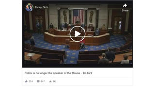 Fact Check: Nancy Pelosi Is STILL Speaker of the House -- Viral Video Only Shows 'Pro Tempore' Announcement
