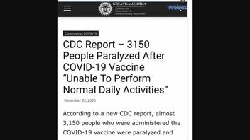 Fact Check: 3,150 People Were NOT 'Paralyzed' After Receiving A COVID-19 Vaccine