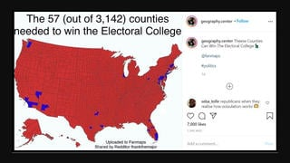 Fact Check: These 57 Counties Are NOT 'Needed' To Win The Electoral College