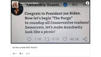 Fact Check: AOC Did NOT Tweet A Call For A 'Purge' To Round Up 'Conservative Traitors' And Making 'Auschwitz Look Like A Picnic'